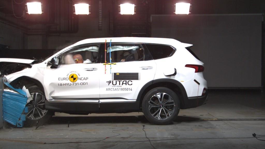 Hyundai Santa Fe Achieves 5 Stars at Euroncap Crash Test