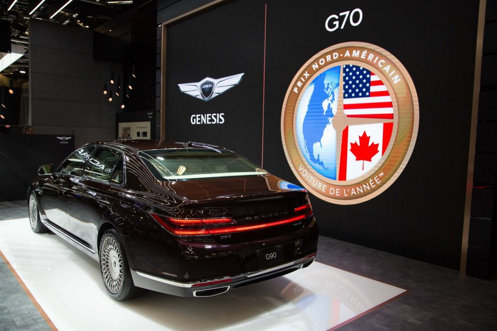 north american spec genesis g90 facelift montreal (2)