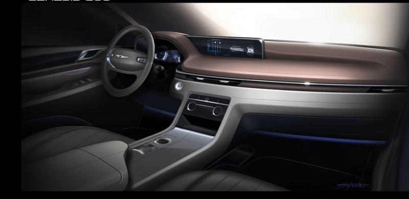 Genesis GV80 SUV Interior Sketch
