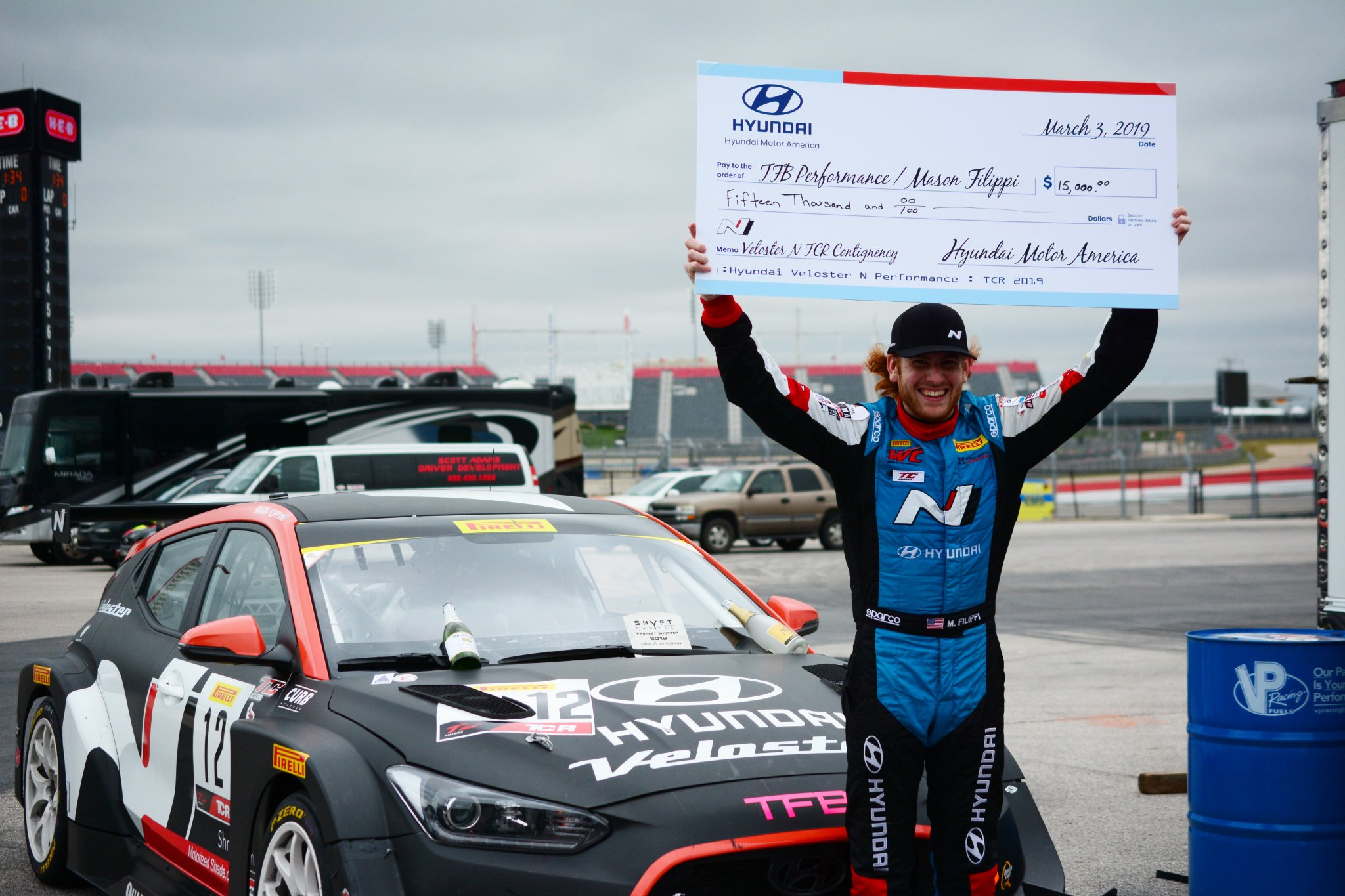 Hyundai Veloster N TCR Victory at COTA