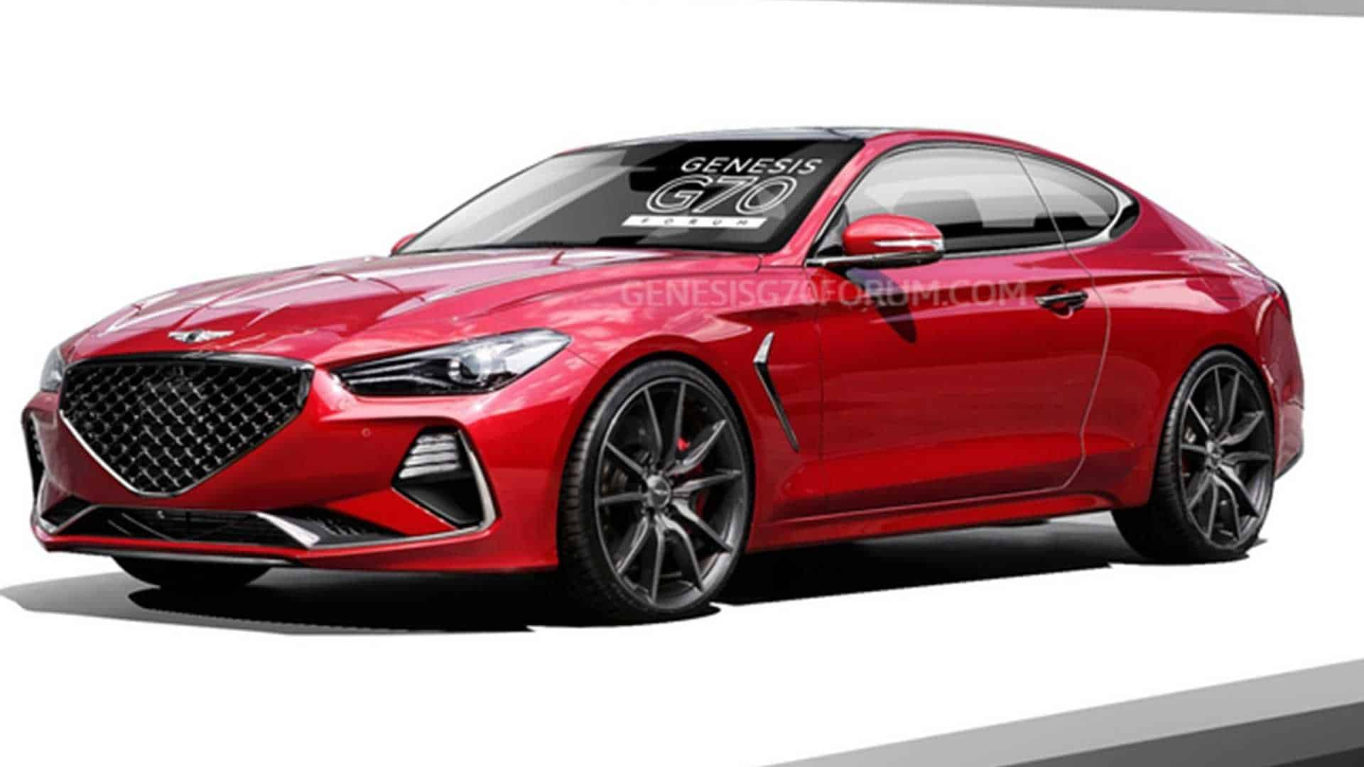 Genesis G70 Coupe Render
