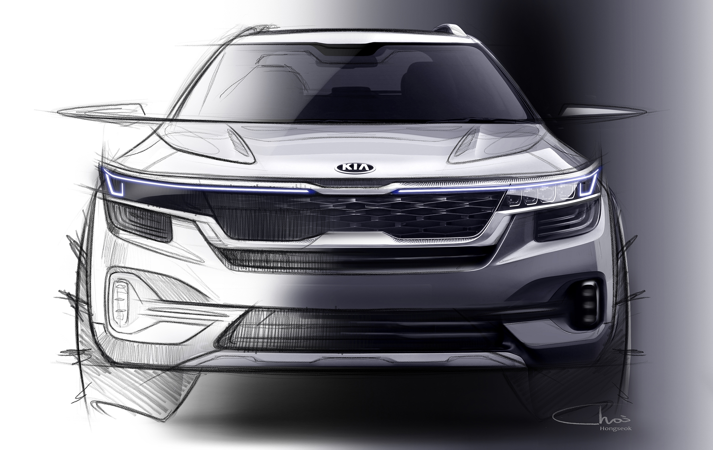 Kia Reveals First Sketches of Tusker Compact SUV