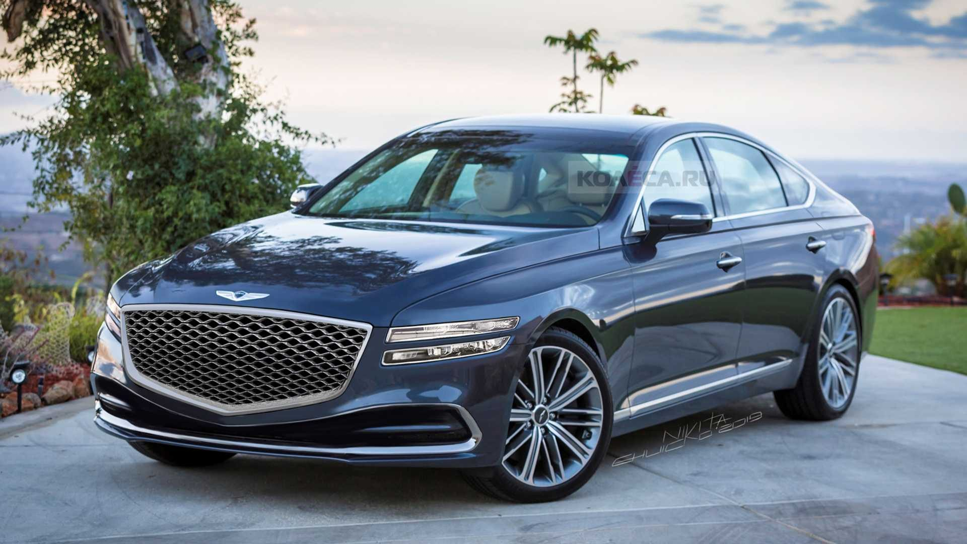 Genesis G80 Rendered Front & Rear