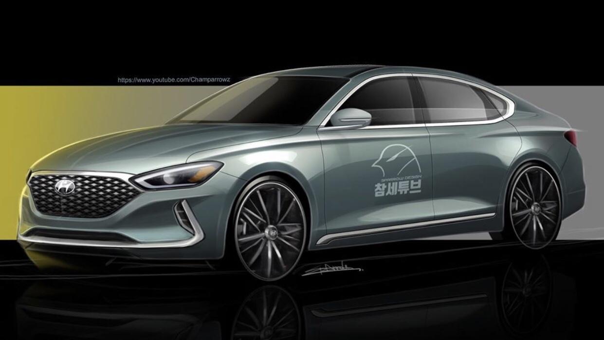 Render: Hyundai Grandeur Facelift