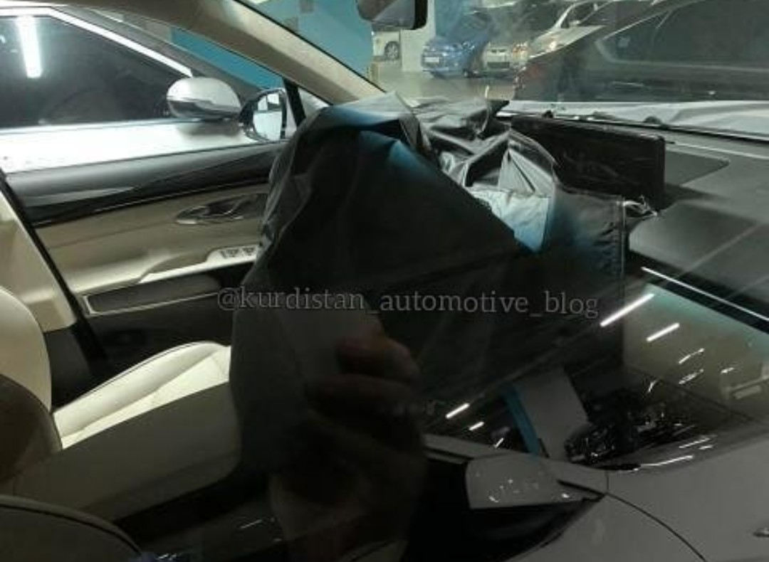 Genesis GV70 Spied Inside Shows Large Widescreen