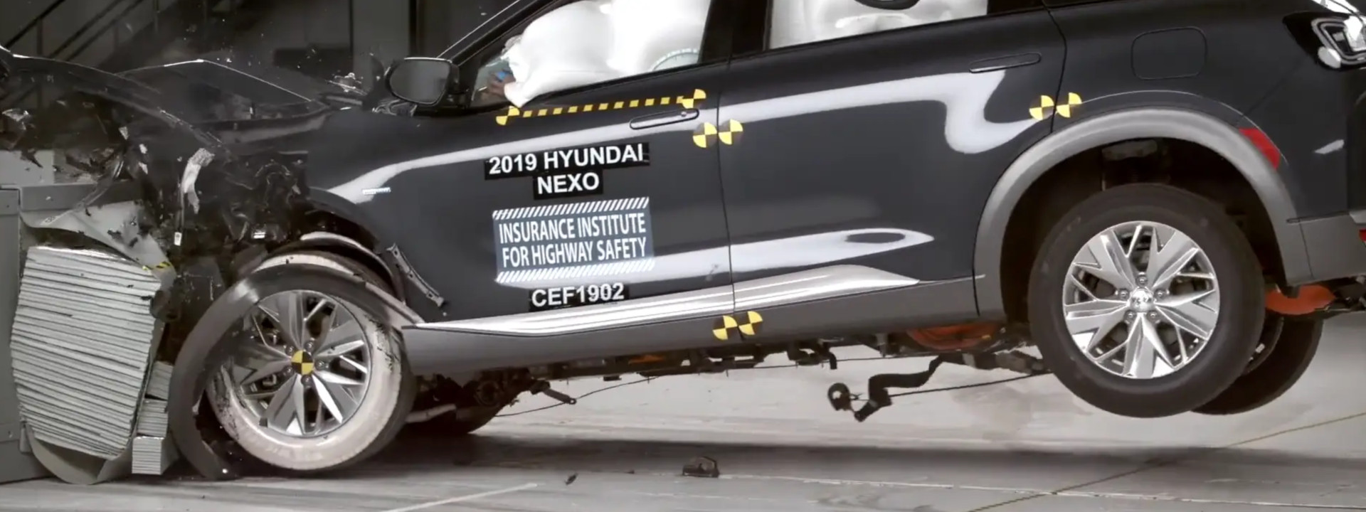 How the Hyundai NEXO performed in the hydrogen fuel cell test by IIHS