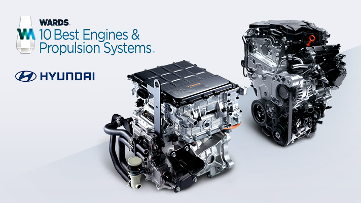 Hyundai Awarded Two Engine Honors in Wards 10 Best Engines and Propulsion Systems Competition