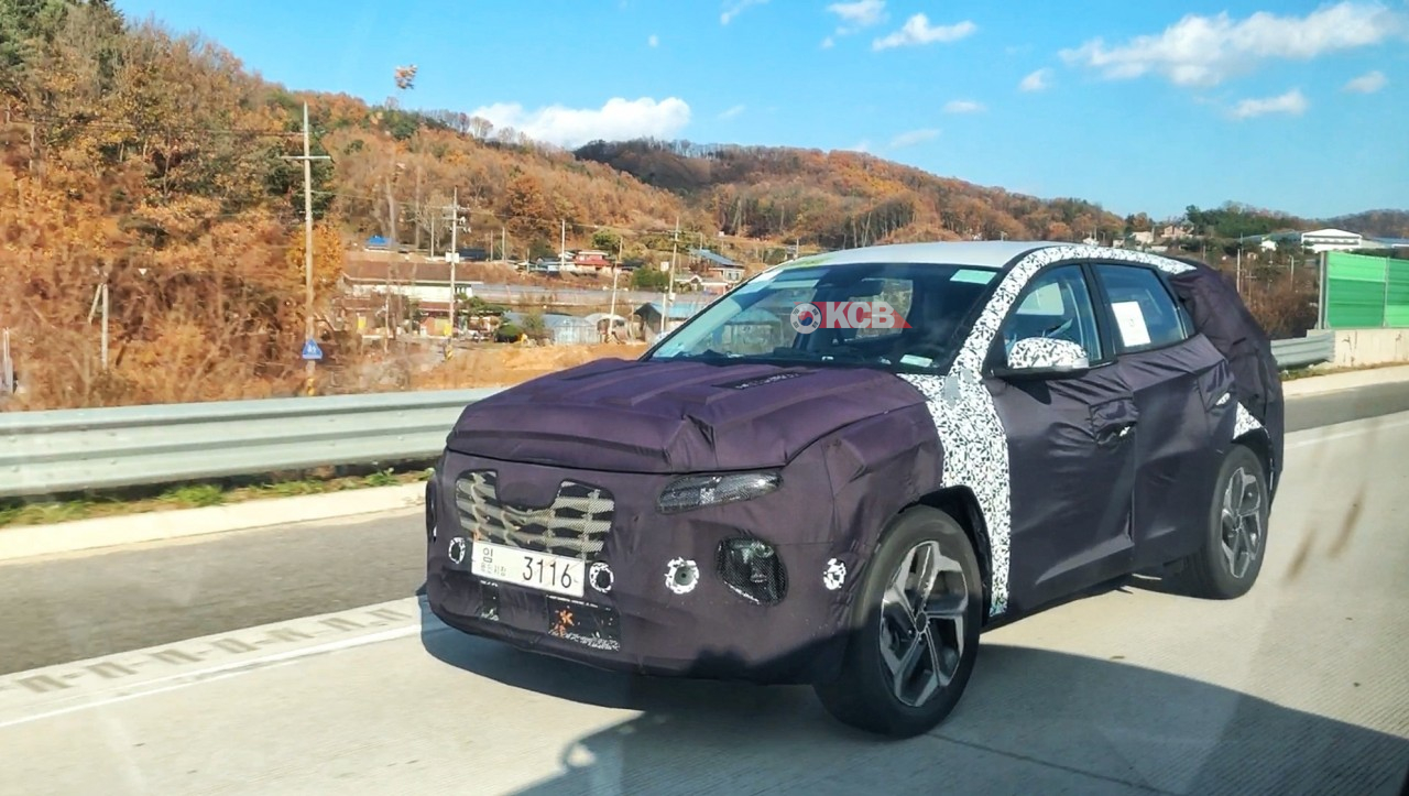Next-Gen Hyundai Tucson Spied in South Korea