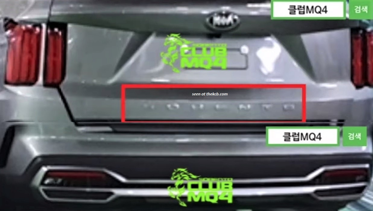 New Leaked Kia Sorento Image Shows Telluride-like Letters on the Back