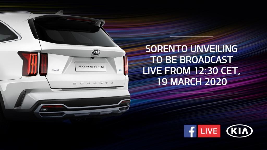 Kia to Reveal All-New Sorento via Facebook Livestream