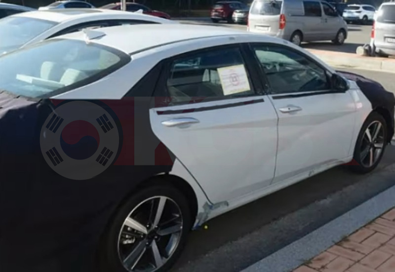 2021 Hyundai Elantra Side View Caught Undisguised