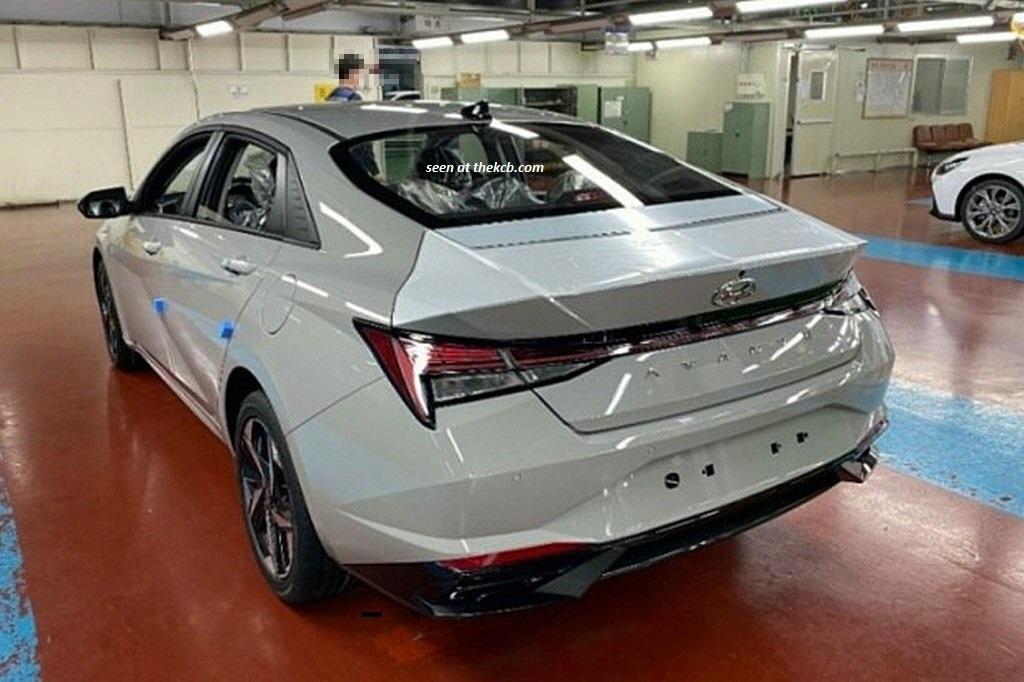 2021 Hyundai Elantra Caught Inside the Factory
