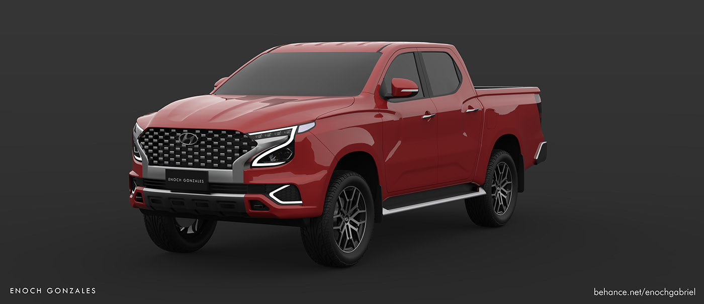 Hyundai Tarlac Rendering is a Toyota Hilux Rival