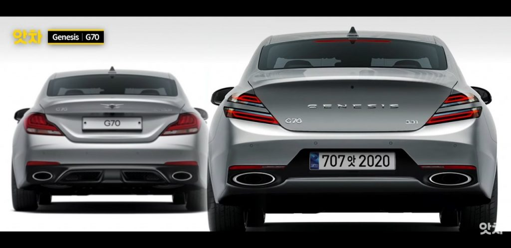 This image has an empty alt attribute; its file name is genesis-g70-facelift-1024x498.jpg