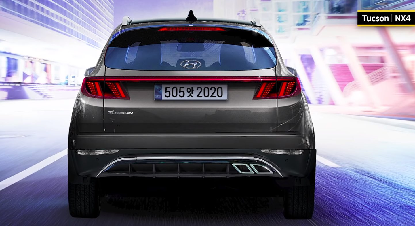 Hyundai Tucson Rendering Shows Rear Design Based on Latest Spy Shots
