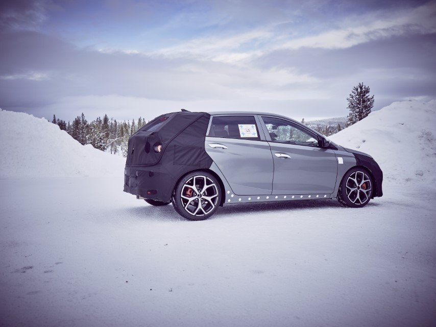 All-new Hyundai i20 N Prototype Teased in Winter Testing