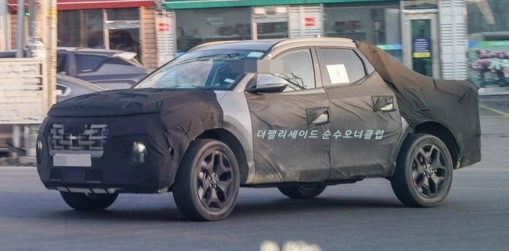 2021 - [Hyundai] Pickup  Hyundai-santa-cruz-spied