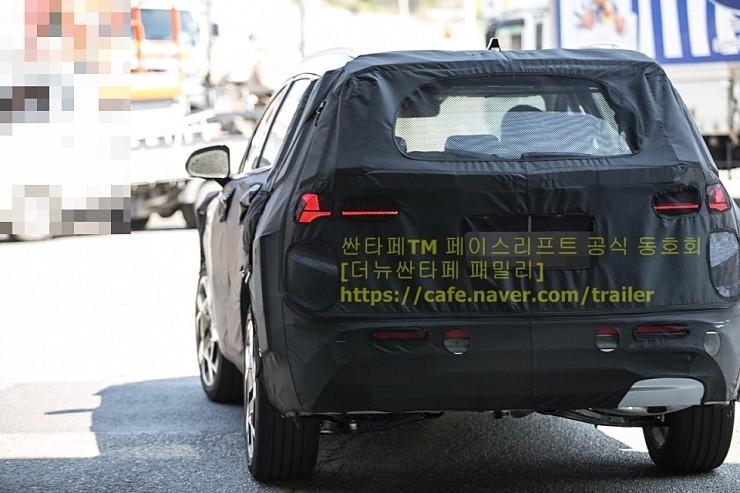 Hyundai Santa Fe Facelift Spied Korean Car Blog