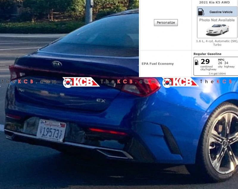 First-Ever Kia K5 with AWD Leaked at US EPA Certification