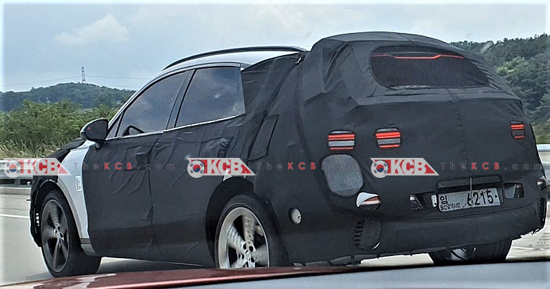 Genesis GV70 Diesel Spied w/ Sport Wheels, Fake Exhaust