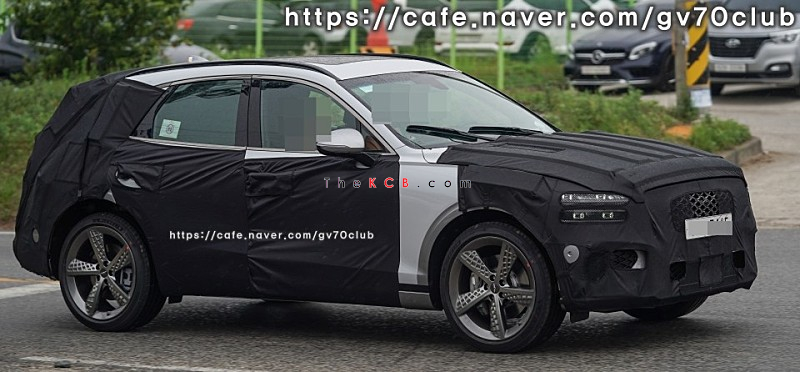Genesis GV70 Sport Spied in South Korea