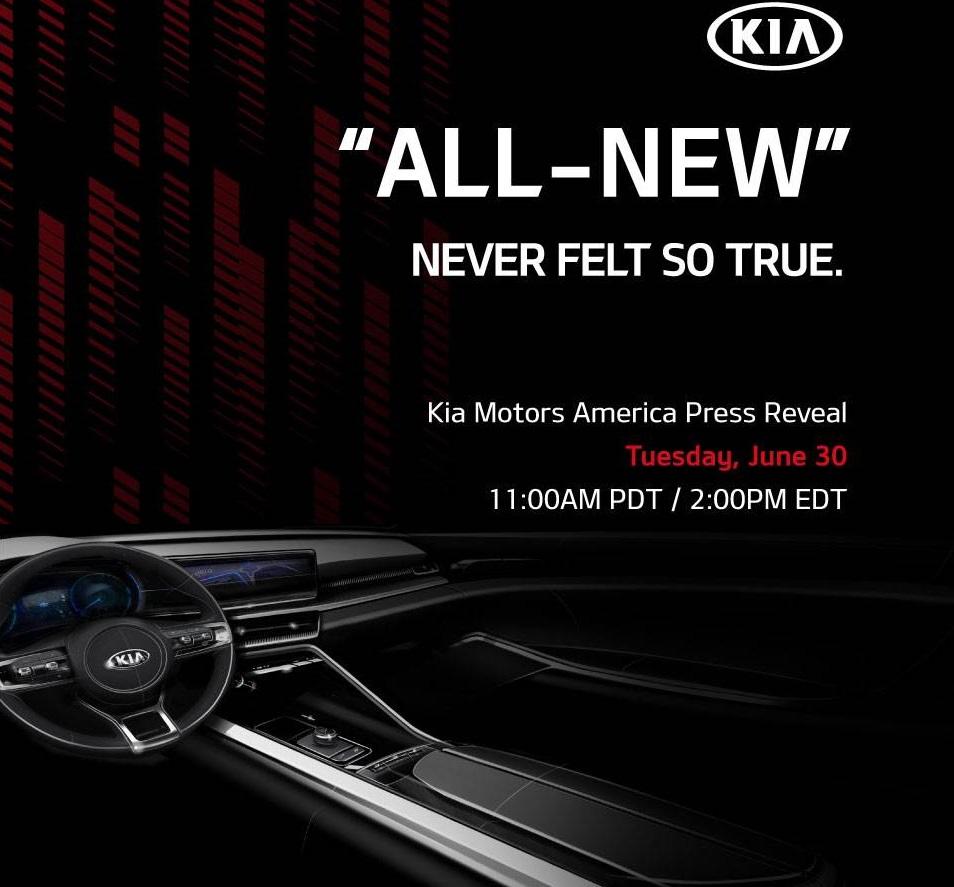 Stay Tuned: Debut of Kia Motors America's K5 on June 30th