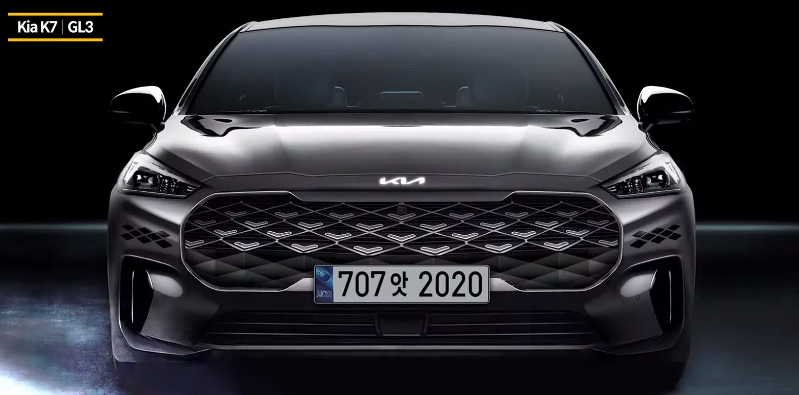 Kia K7 GL3 Rendering with New Badge