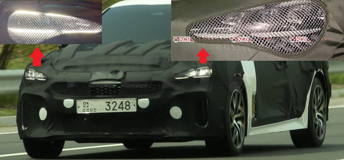 Kia Stinger Facelift Headlight Changes Spied