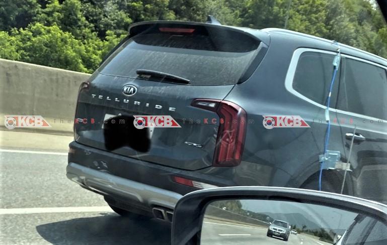 Mysterious Kia Telluride Spied Again w/ GT-Line Badge