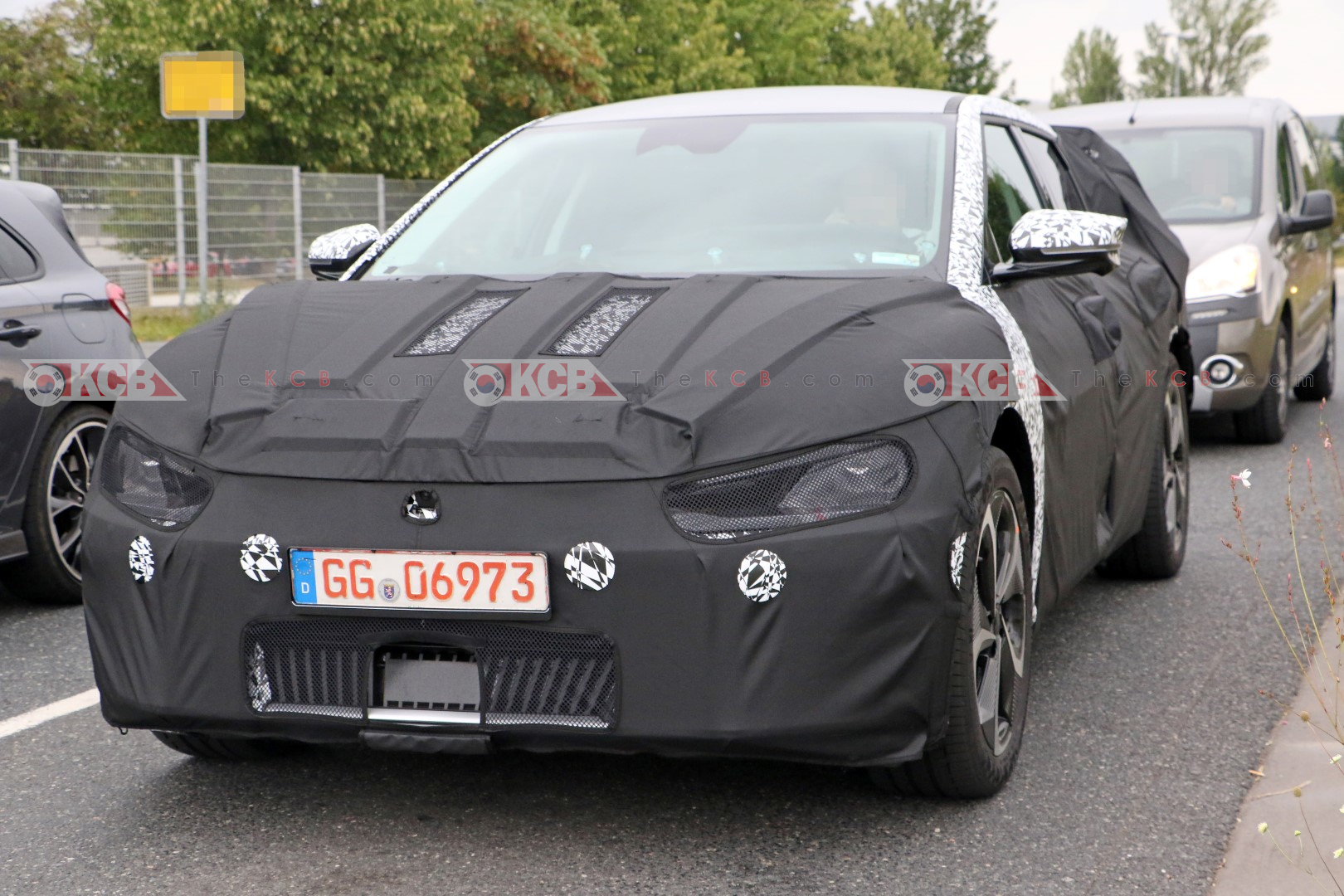 Kia EV Crossover Spied in Germany