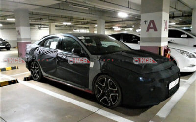 Hyundai Elantra N Prototype Spied Inside Parking