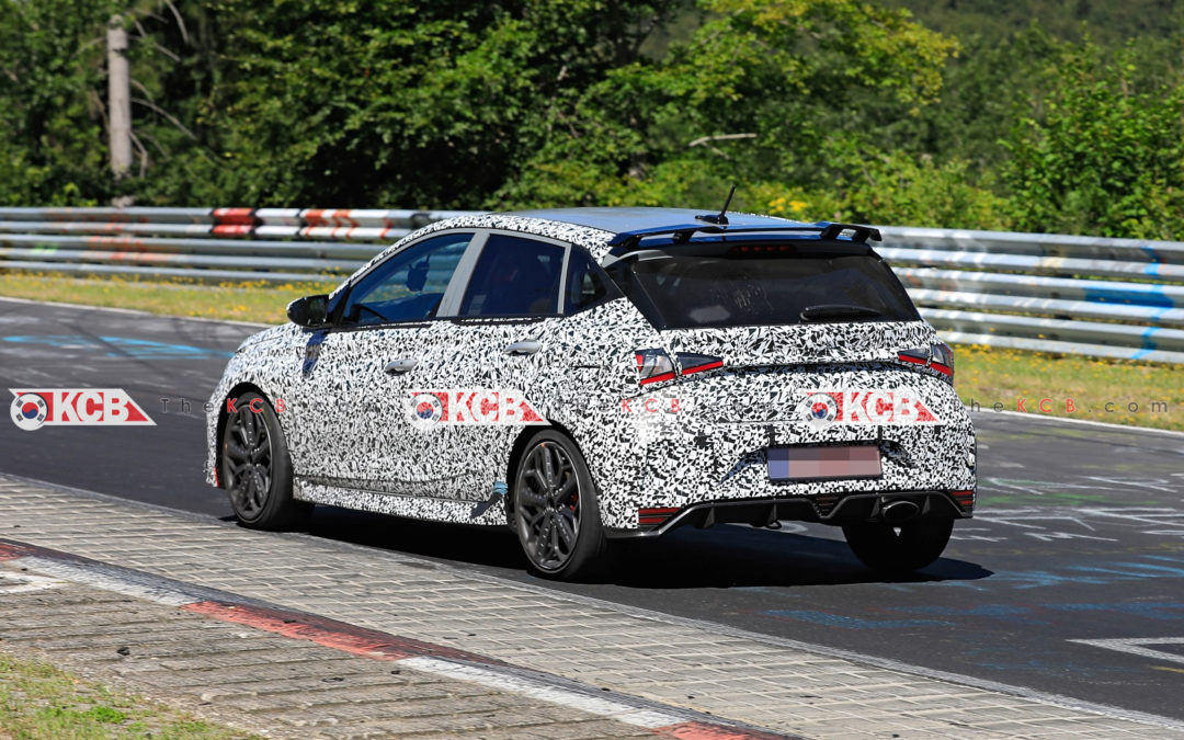 Hyundai i20 N Spied with Production Parts