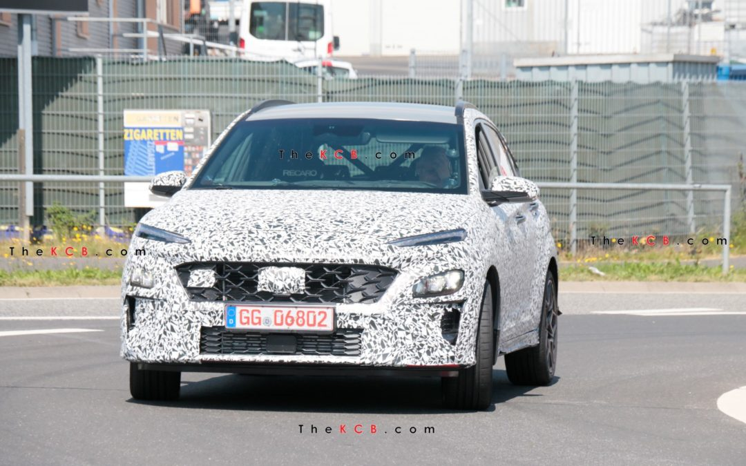Hyundai Kona N Loses Camouflage While Getting Ready