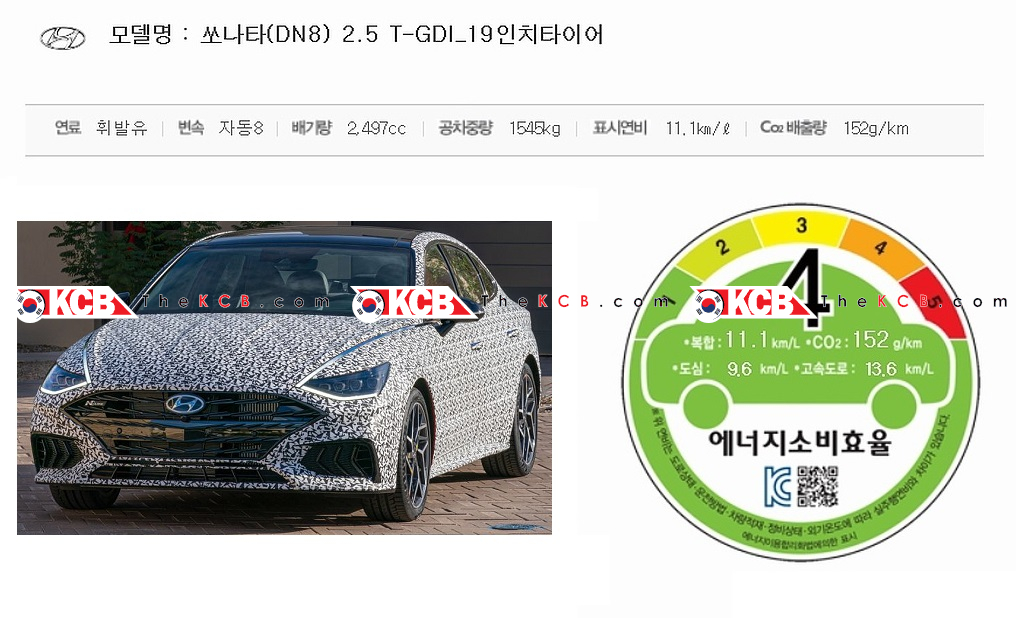 Sonata N-Line Passed South Korea's Emission Certification