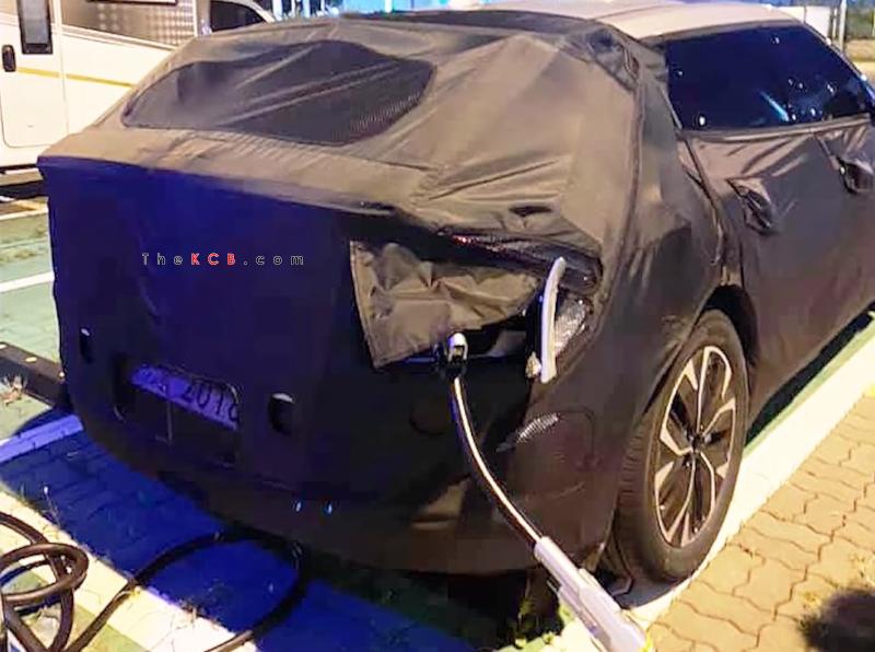 Kia CV EV Crossover Spied, Curious Charging Port Door