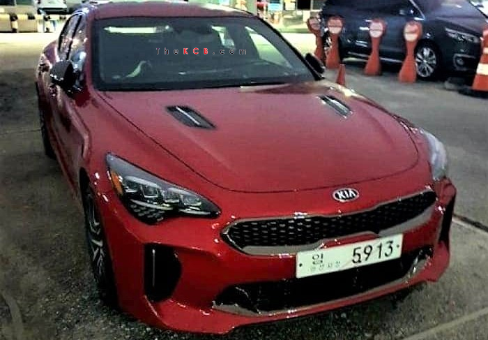 Updated: Kia Stinger Facelift Caught Undisguised