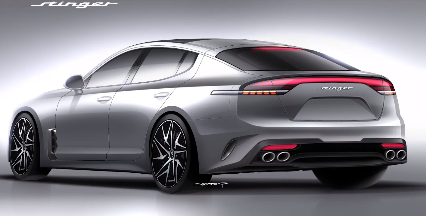Kia Stinger Facelift Rendering