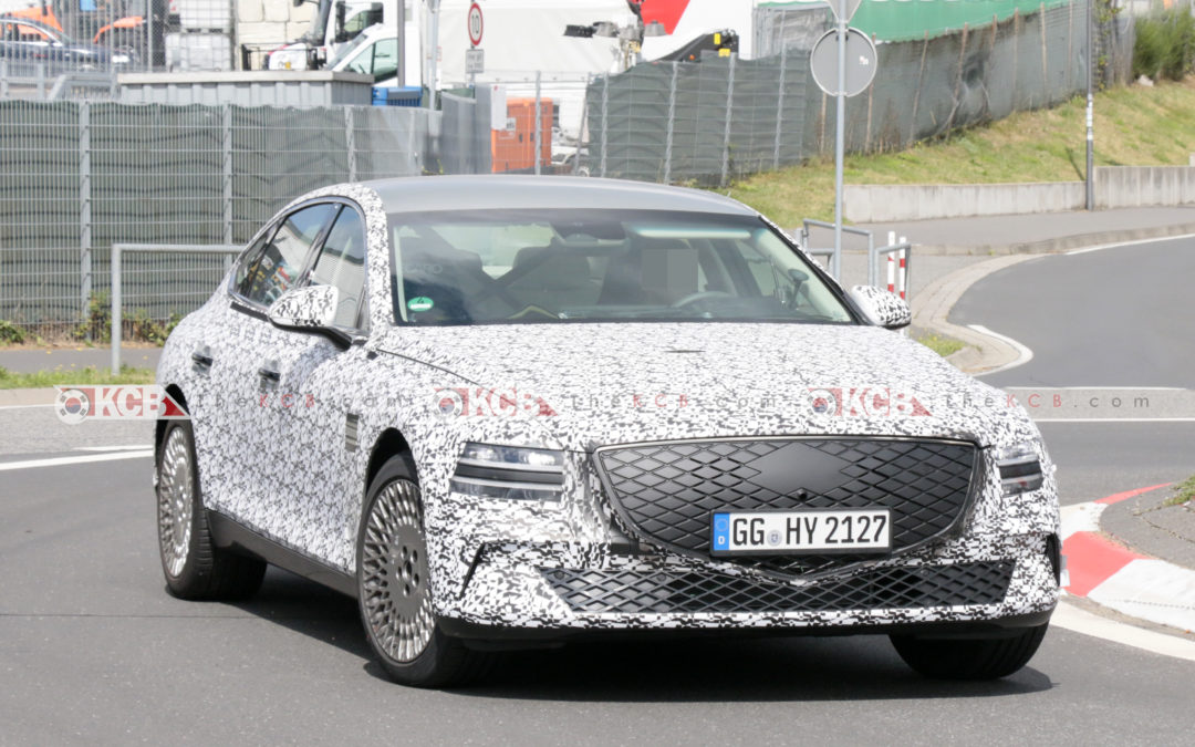 Genesis eG80 Electric Vehicle Spied in Europe