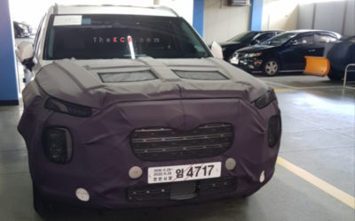 Hyundai Palisade Facelift Spied for the First Time?