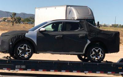 Hyundai Santa Cruz Spied in SoCal