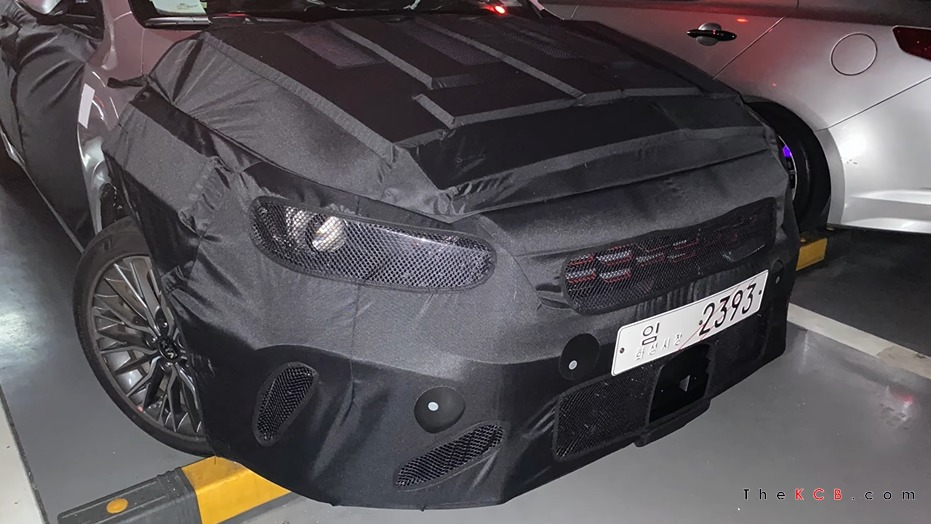 Kia Forte Facelift Spied Up Close