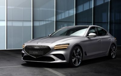 Genesis Adds New Corporate Styling to Facelifted Genesis G70