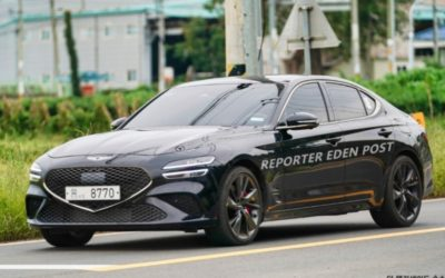 A Bunch of Genesis G70 Facelift Pictures