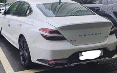 Genesis G70 Facelift Spied in White, Top Trim?