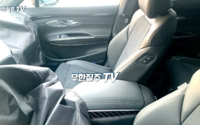 Genesis GV70 Spied w/ Alcantara Seats & Carbon Pattern