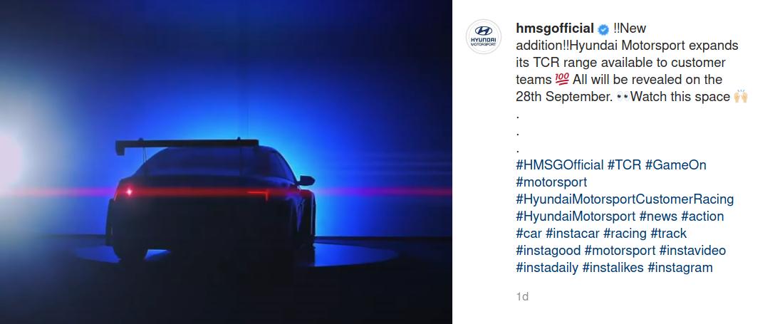 Hyundai Motorsport Teases Elantra TCR
