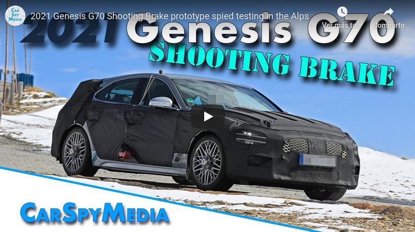 Genesis G70 Shooting Brake Spied in Video
