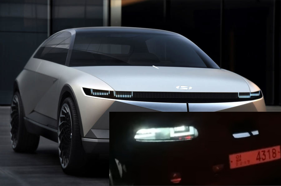 Hyundai Ioniq 5 Spied w/ Production Lights