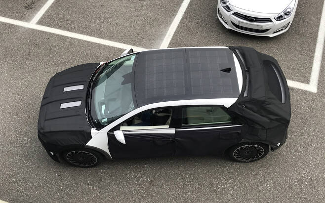Hyundai Ioniq 5 Spied with Solar Roof