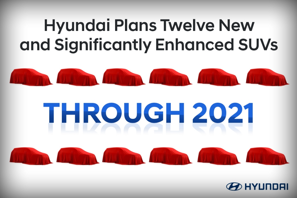 Hyundai to Launch Twelve New or Enhanced SUVs by End of 2021